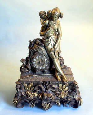 551: Late 19th century French brass and gilt