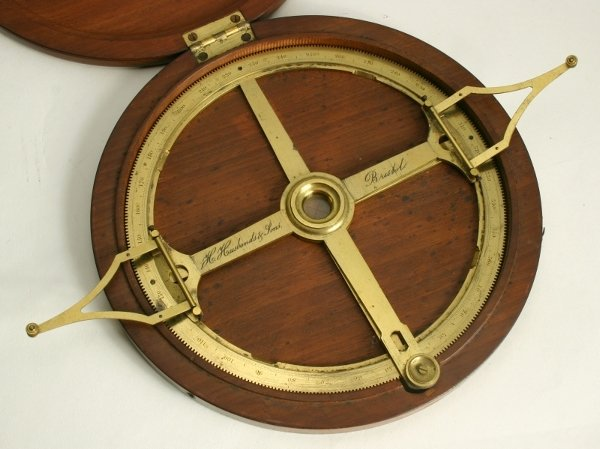 5: A lacquered brass index protractor, 19th century, th
