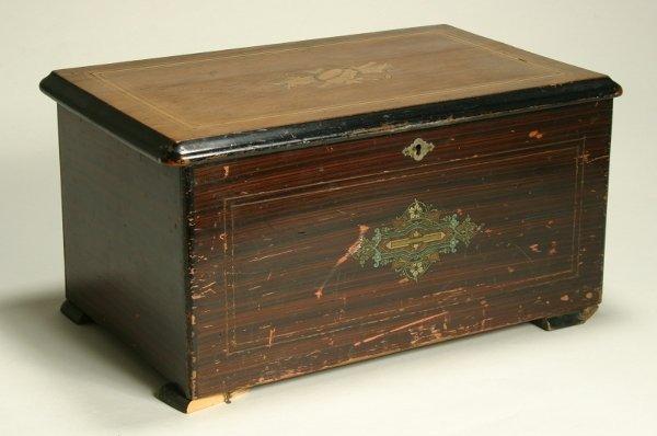 18: A Swiss eight-air musical box, late 19th century, w