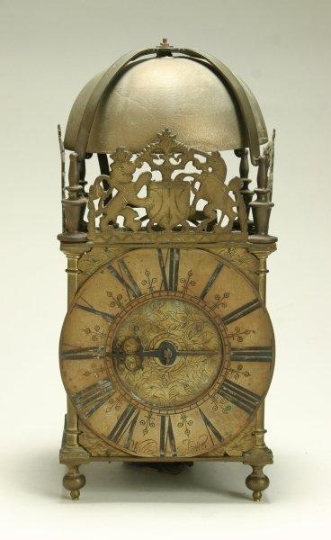 20: A brass lantern clock, by 'Walter Archer', Stow-on-