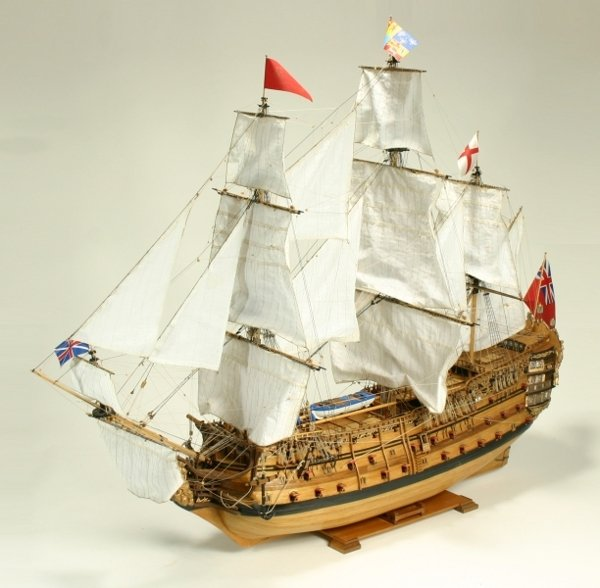 221: A finely built scale model of Royal William 1719,