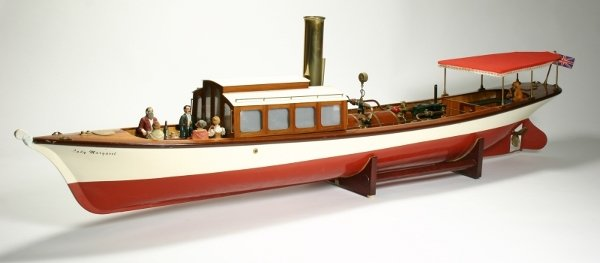 228: A model live steam launch 'Lady Margaret' built in