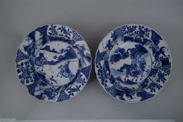 2001: A pair of Chinese blue and white bowls, each of s