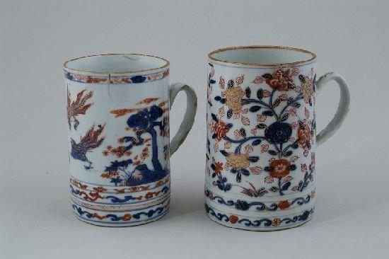 2007: A Chinese Imari quart mug, painted and gilded wit