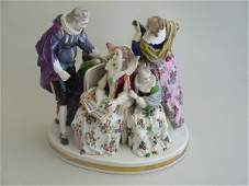 2183: A German porcelain figure group, modelled as a la