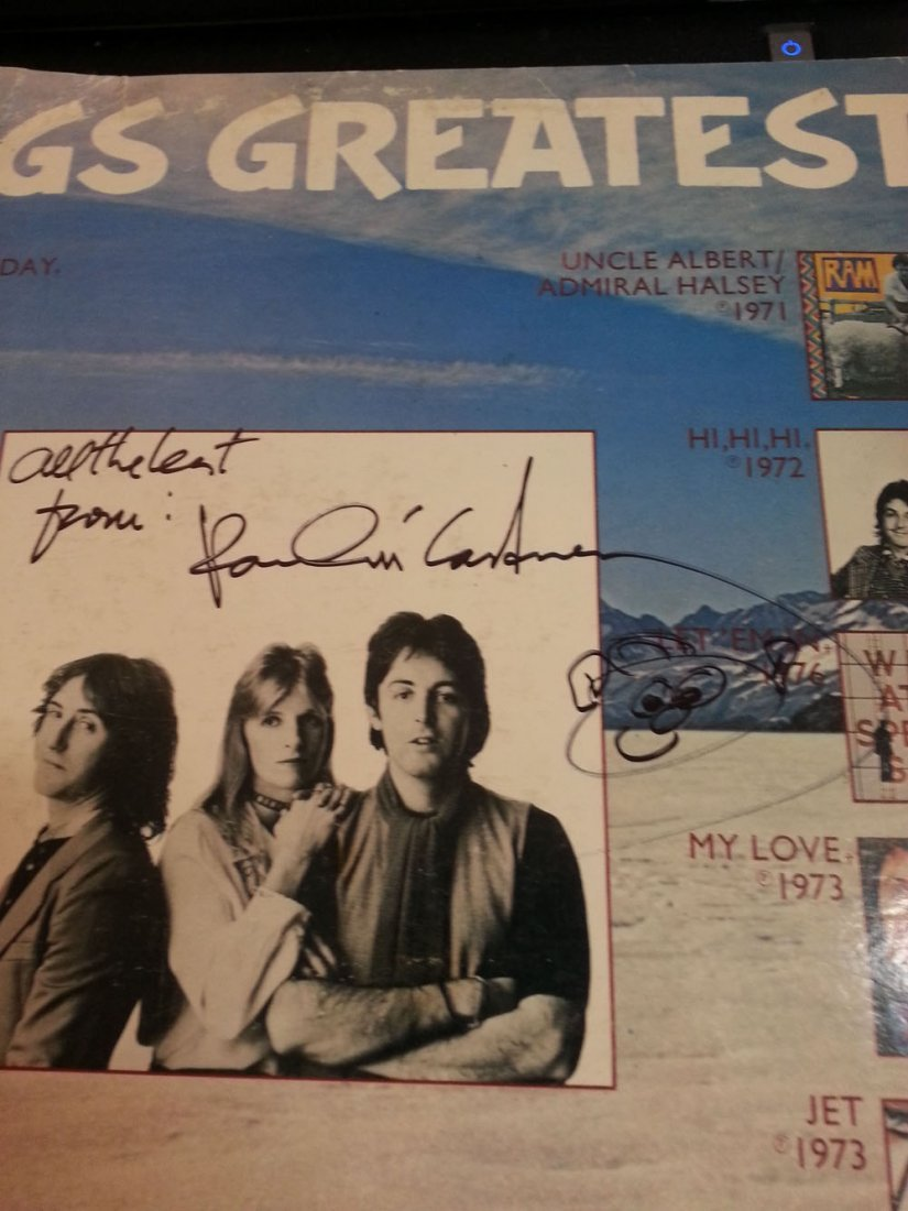 PAUL MCCARTNEY SIGNED WINGS LP