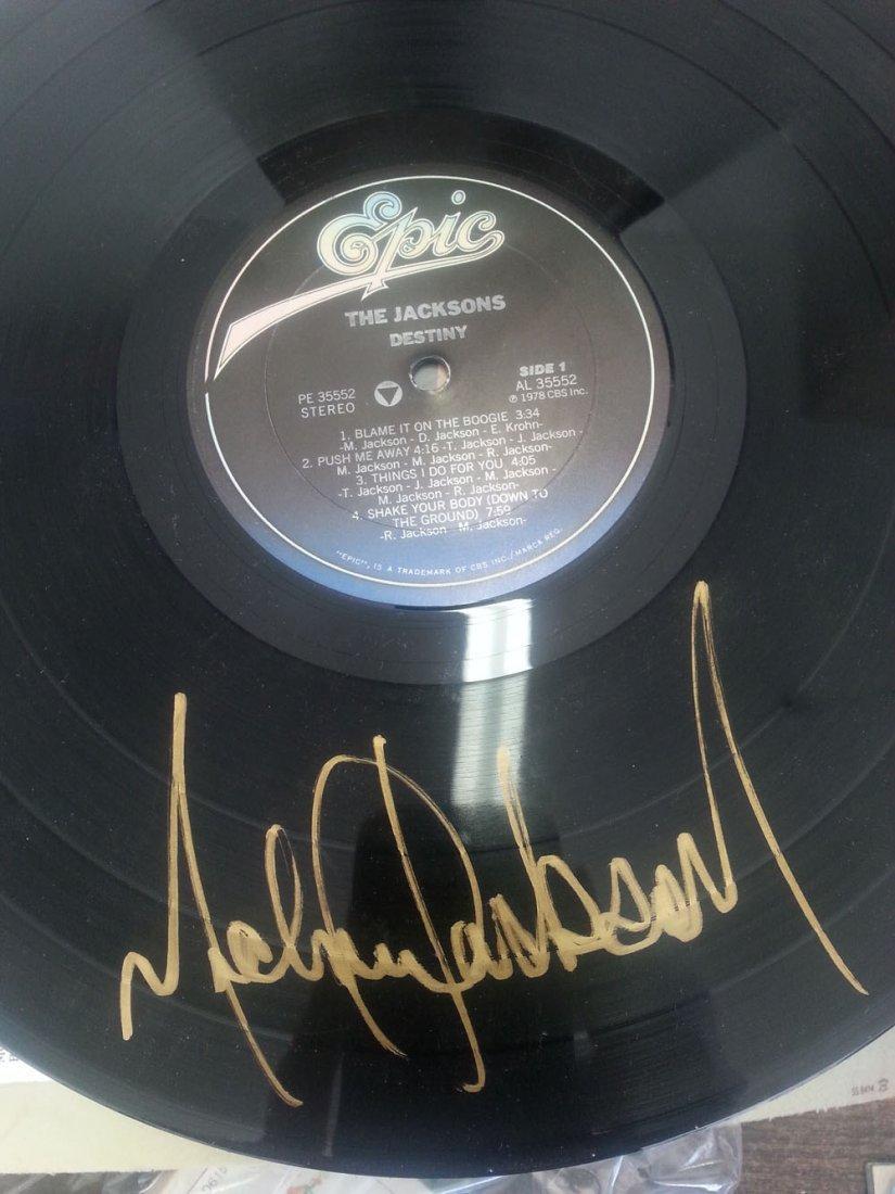 MICHAEL JACKSON SIGNED JACKSON'S DESTINY LP