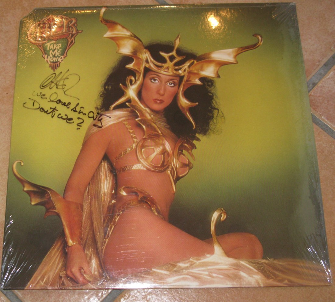 Cher LP Signed By Cher