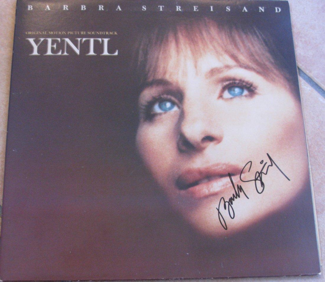 Yentl LP Signed By Barbara Streisand
