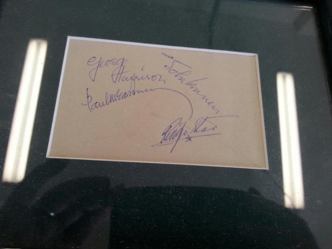 ALL 4 BEATLES IN PEN ORIGINAL SIGNATURE CARD!-WITH LOA!