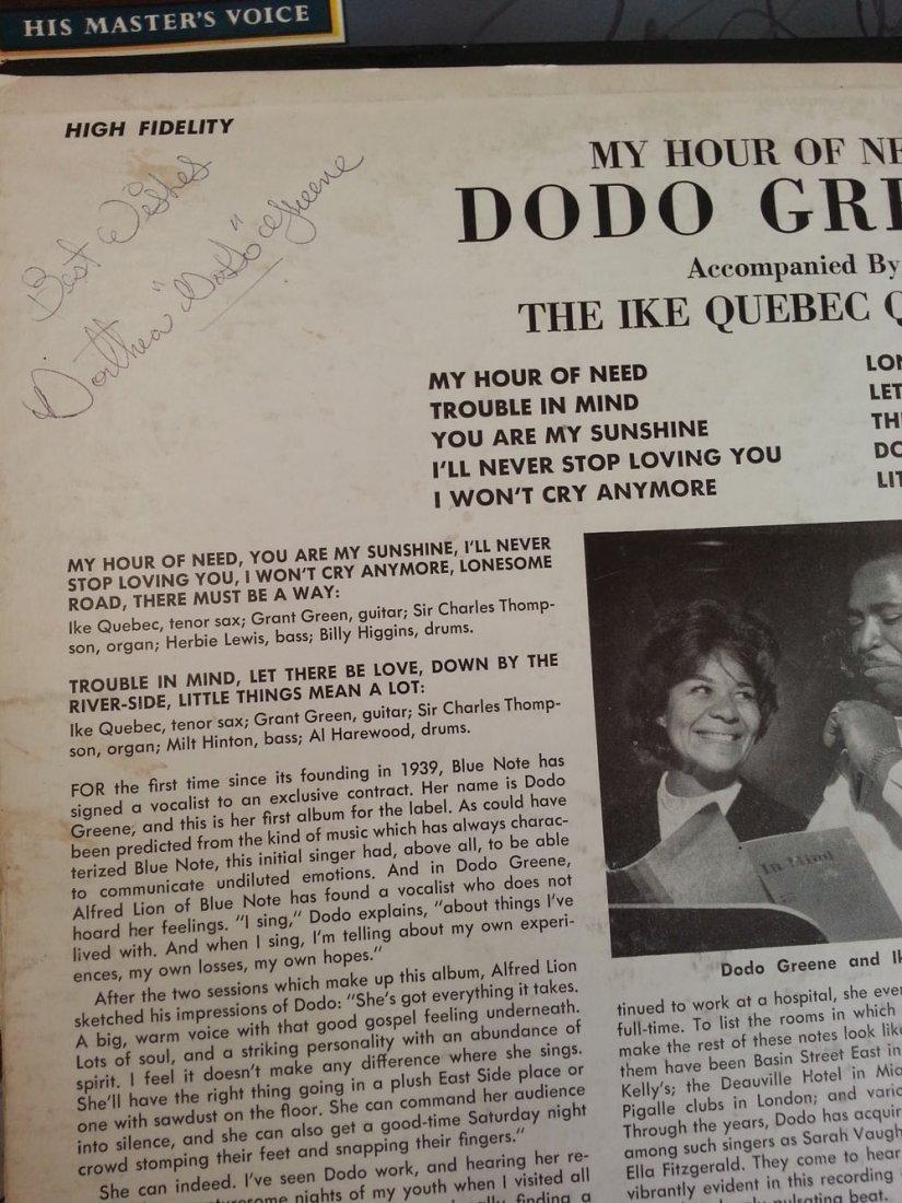DODO GREENE SIGNED ORIGINAL BLUE NOTE LP!!