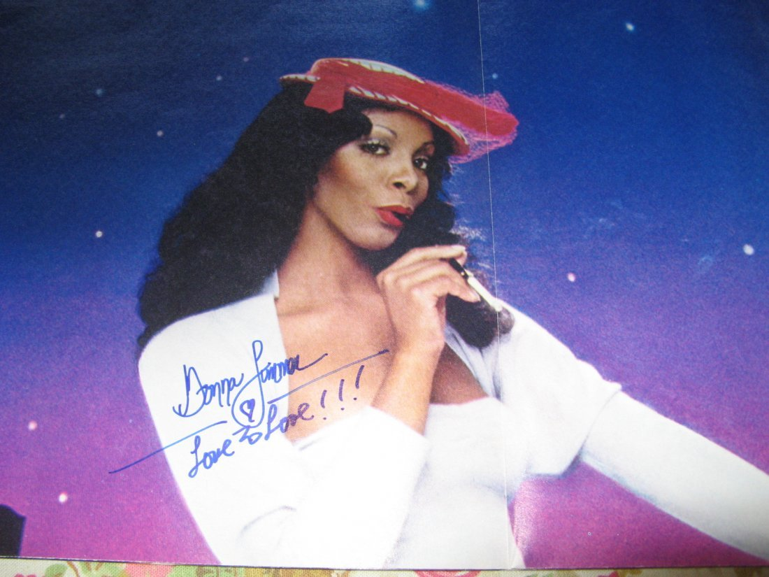 Donna Summer LP Autographed poster, LPs and drawing!!