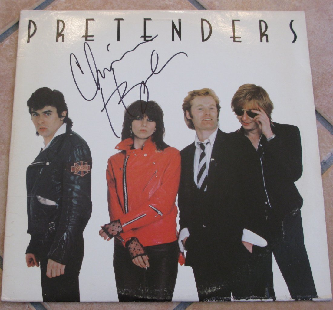 Pretenders LP Autographed By Chrissie Hynde