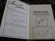 WHEN HARRY MET SALLY SIGNED BY CAST & AUTHOR
