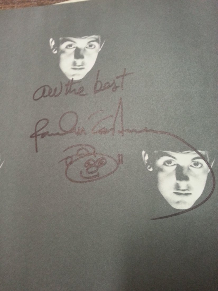 PAUL MCCARTNEY SIGNED BOOK WITH DOODLE!
