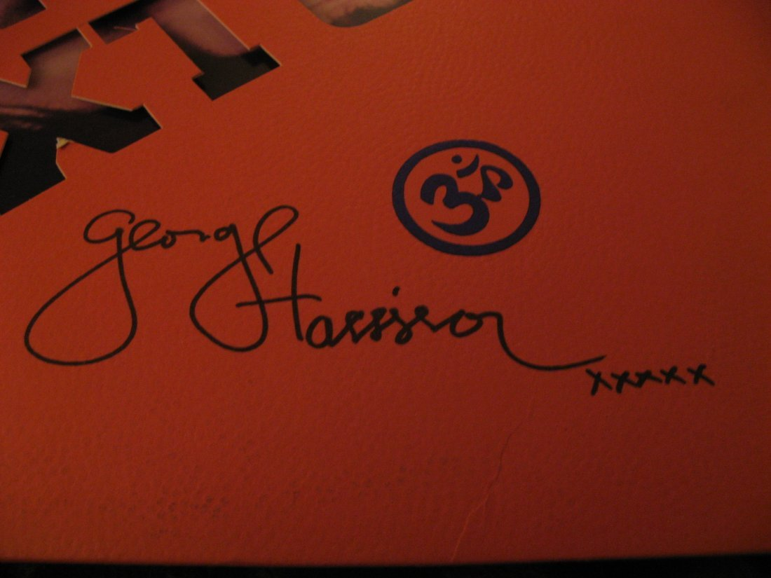 GEORGE HARRISON (BEATLES)-SIGNED EXTRA TEXTURE LP