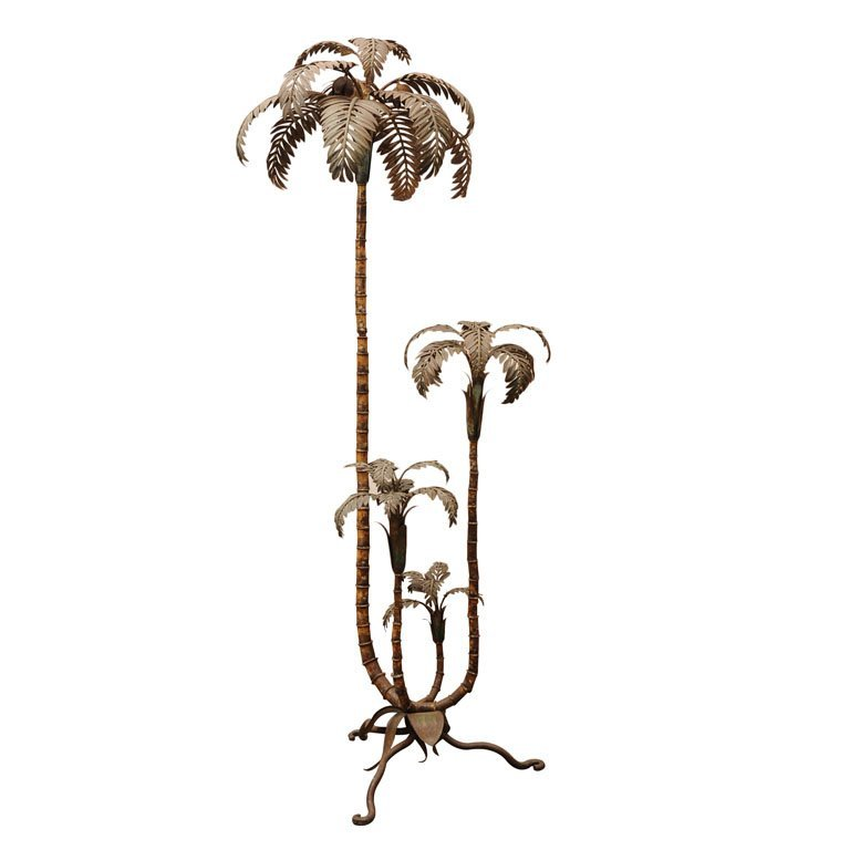 Palm tree metal sculpture