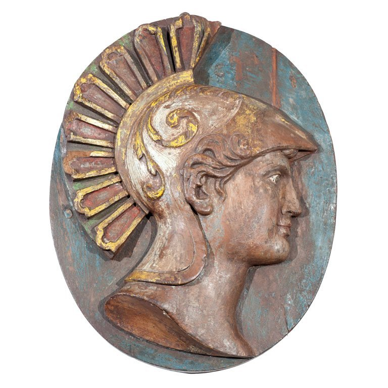 Wooden Roman Warrior medallion