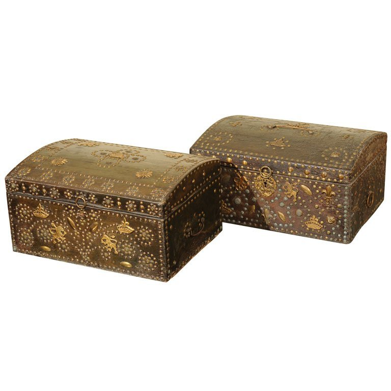 Pair of 18th c. cassone