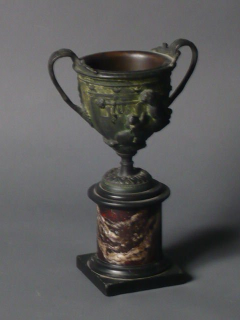 French bronze tazza