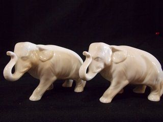 Pair of Lenox Elephants