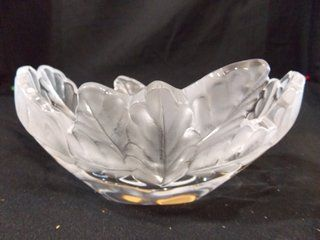 Lalique france signed frosted candy dish