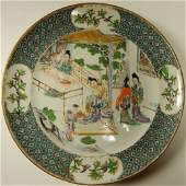 (4) Old chinese famille rose chargers