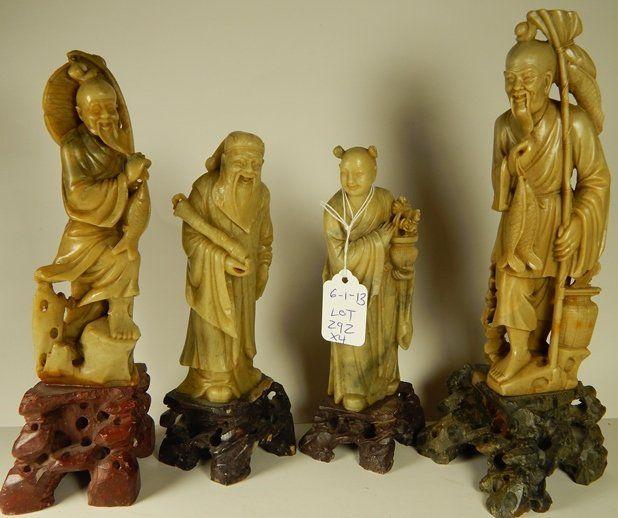 (4) Hard Stone Chinese Elders