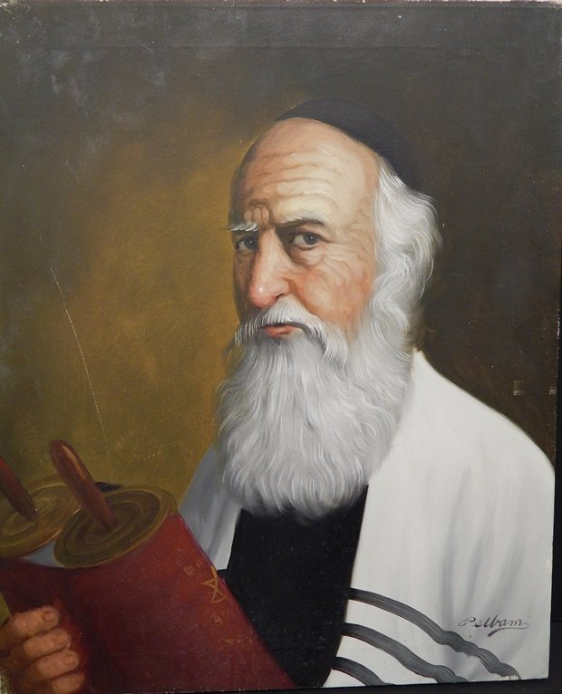 "SIGNED ORIGINAL PELLAM OIL PAINTING ""RABBI"""