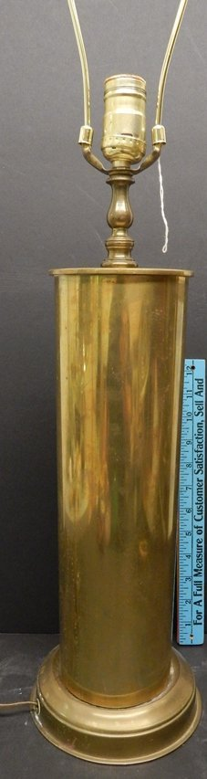 "M14 105MM SHELL BRASS CASING ""TRENCH ART"" LAMP"