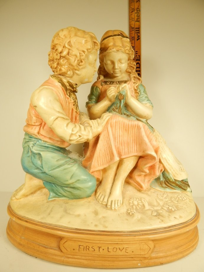 """FIRST LOVE"" PLASTER STATUE"