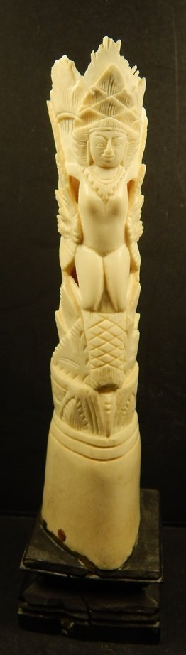 "CARVED BONE ""; SOUTH AMERICAN CHARACTER"""