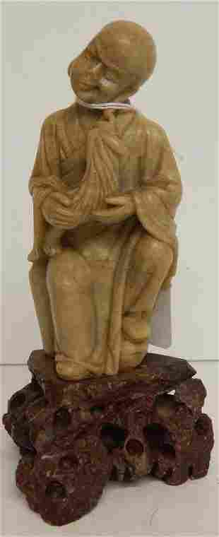 ANTIQUE CHINESE SOAP STONE FIGURE