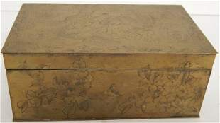 ANTIQUE CHINESE ENGRAVED BOX