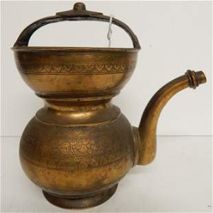 ANTIQUE 19TH.C CHINESE ENGRAVED TEA KETTLE