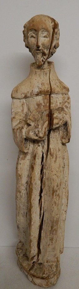 18TH/19TH.C HAND CARVED WOOD ICON SCULPTURE