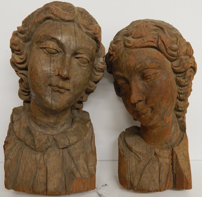 18TH/19TH.C FRENCH WOOD CARVED WALL SCULPTURES