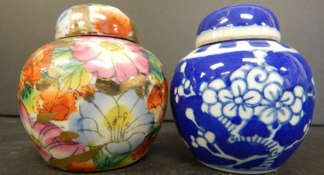 (2) SMALL CHINESE JARS
