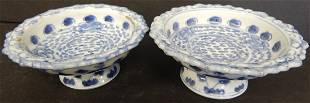 (2) CHINESE BLUE & WHITE DISHES