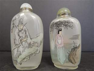 (2) CHINESE SNUFF BOTTLES