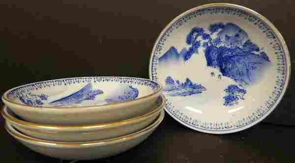 (4) B & W CHINESE PLATES