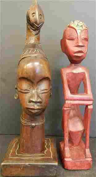 (2) AFRICAN SCULPTURES