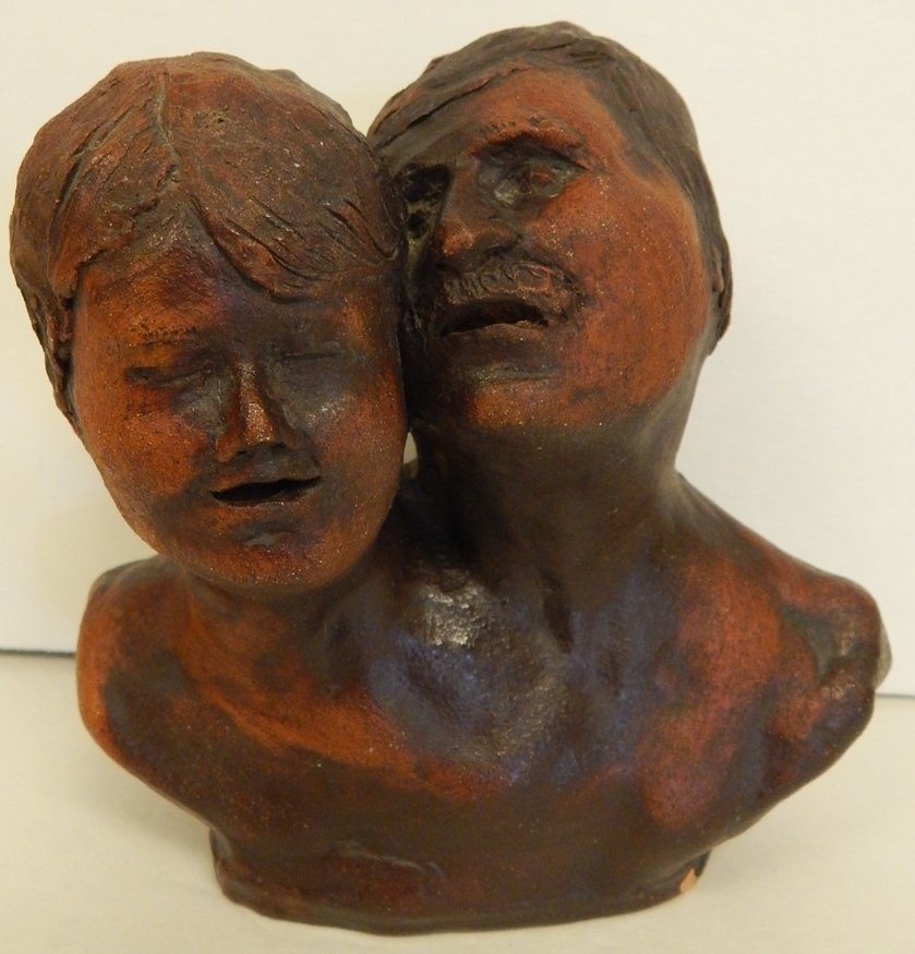 "ORIGINAL SIGNED ""S.BUMANN"" TERRACOTTA SCULPTURE"