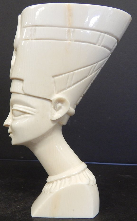 "ANTIQUE IVORY ""Pharaoh Queen Nefertiti"" BUST"