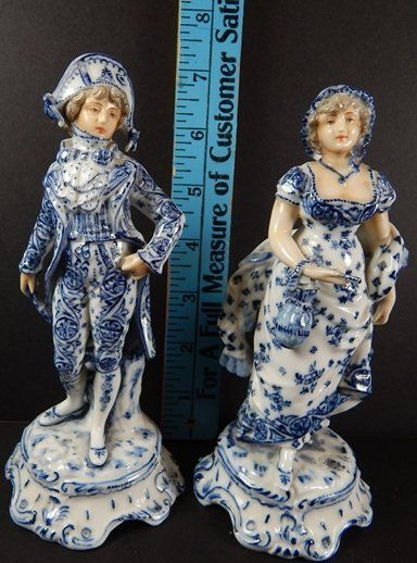 (2) LATE 19TH.C FRENCH PORCELAIN FIGURES