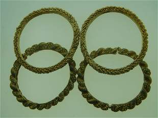 SIGNED GOLD PLATED BANGLE BRACLETS