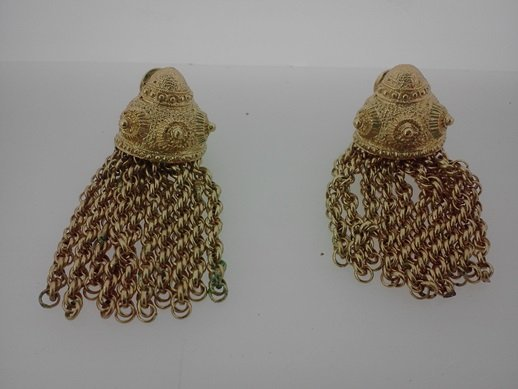 "MONET SEASHELL ""CLIP ON"" EARINGS"