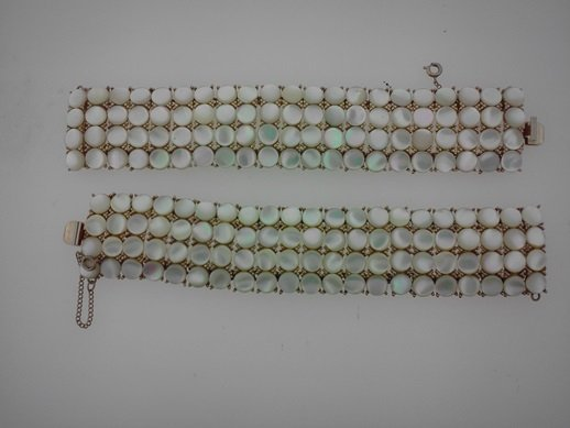 "VINTAGE ""MOTHER OF PEARL"" PAIR OF BRACLETS"
