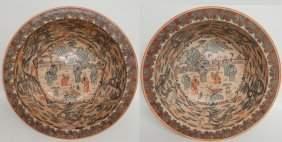 (2) LARGE CHINESE PORCELAIN BOWLS