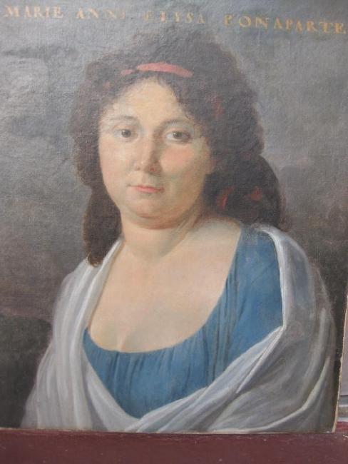 Marie Elysa Bonaparte, sister of Napoleon, oil painting